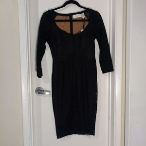 Byron Lars Beauty Mark Black Dress
